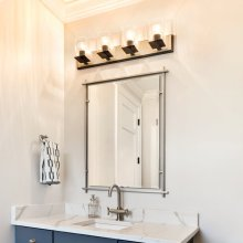 Eileen Modern Rectangular Mirror Brushed Nickel