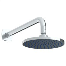 """Wall Mounted Showerhead, 7""""dia, With 14"""" Arm and Flange"""