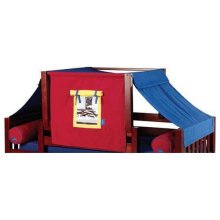 Top Tent Fabric (Full) : Blue/Red/Hot Yellow