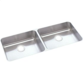 "Elkay Lustertone Classic Stainless Steel 41-3/4"" x 18-1/2"" x 4-3/8"", Equal Double Bowl Undermount ADA Sink"