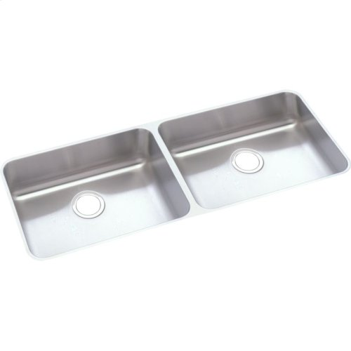 """Elkay Lustertone Classic Stainless Steel 45-3/4"""" x 18-1/4"""" x 4-7/8"""", Equal Double Bowl Undermount ADA Sink"""