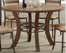 Avery Wood Plank Round Dinette