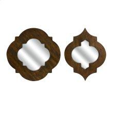 CKI Cronus Wood Frame Mirror - Set of 2