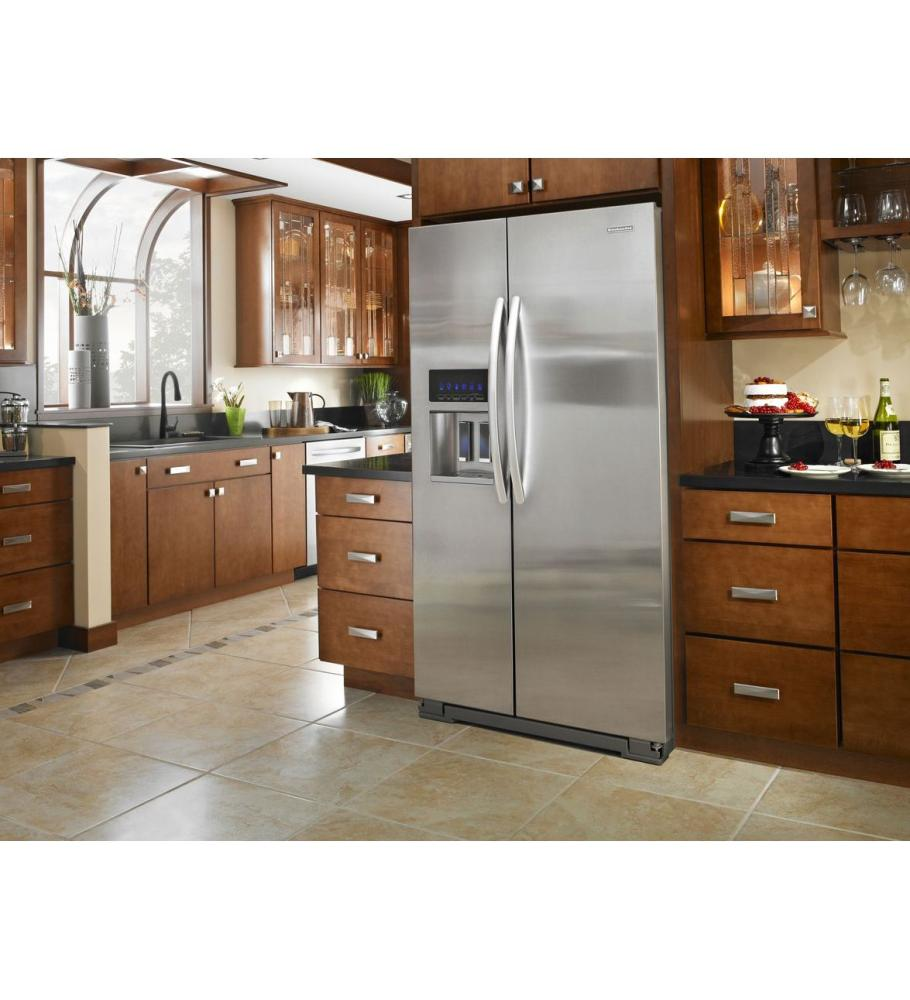 Beau Ft. Counter Depth Side By Side Refrigerator   Stainless