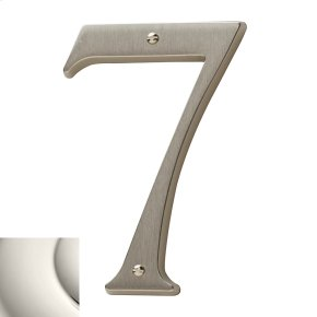 Polished Nickel House Number - 7