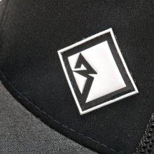 Black FlexFit Hat w/ White Rubber Diamond R Patch-L.XL