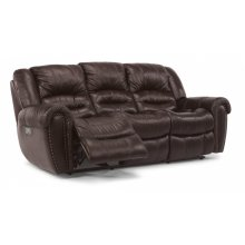 Crosstown Leather Power Reclining Sofa with Power Headrests