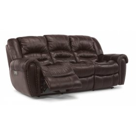 Crosstown Power Reclining Sofa with Power Headrests