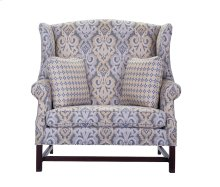 Country Settee - Highback Wingback Chair & 1/2 with Chippendale base