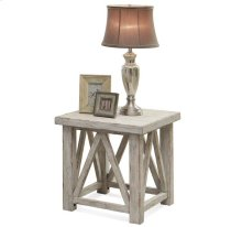 Aberdeen Side Table Weathered Worn White finish