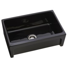 Fire Clay Farmhouse Reversible Sink in Black