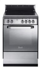 "24"" Deluxe Electric Range - Stainless Steel Product Image"