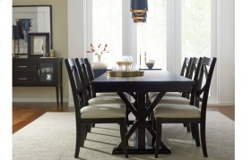 Everyday Dining by Rachael Ray Trestle Table - Peppercorn
