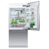"""Fisher & Paykel Integrated Refrigerator Freezer, 36"""", Ice"""