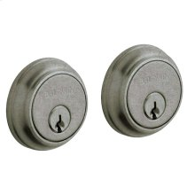 Distressed Antique Nickel Traditional Deadbolt