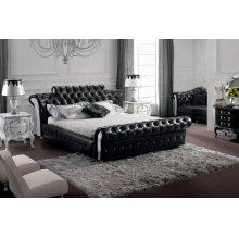 Modrest Retro - Contemporary Black Tufted Leatherette Bed