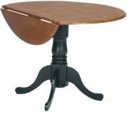 "42"" Complete Drop Leaf Table Cherry & Black Product Image"