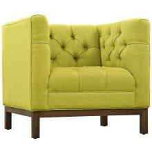 Panache Upholstered Fabric Armchair in Wheatgrass