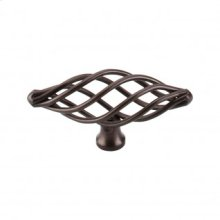 Oval Medium Twist Knob 3 Inch - Oil Rubbed Bronze