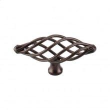 Oval Medium Twist Knob 3 Inch - Oil Rubbed Bronze