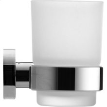 Chrome D-code Glass Holder