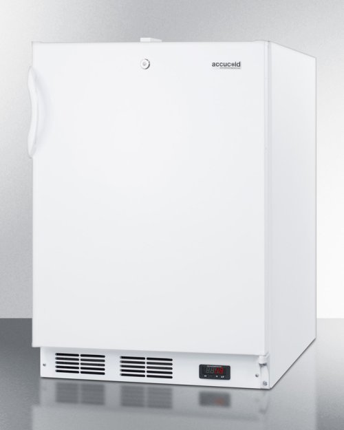 Built-in ADA Compliant Undercounter Frost-free All-freezer for General Purpose Use, With White Exterior, Digital Thermostat, and Lock