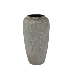 """Ceramic 12.25"""" Vase , Champagne"""
