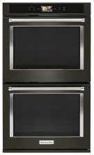 """Smart Oven+ 30"""" Double Oven with Powered Attachments and PrintShield Finish - Black Stainless Product Image"""