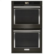 """Smart Oven+ 30"""" Double Oven with Powered Attachments and PrintShield™ Finish - Black Stainless Steel with PrintShield™ Finish"""