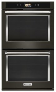 "Smart Oven+ 30"" Double Oven with Powered Attachments and PrintShield Finish - Black Stainless Product Image"