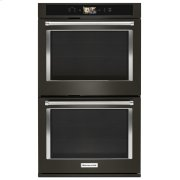 """Smart Oven+ 30"""" Double Oven with Powered Attachments and PrintShield Finish - Black Stainless Steel with PrintShield™ Finish Product Image"""