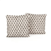 Square Pillow Style Embroidered Pillow, Set of 2
