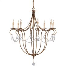 Crystal Lights Gold Large Chandelier