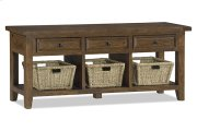Tuscan Retreat® TV Console With Baskets - Antique Pine Product Image