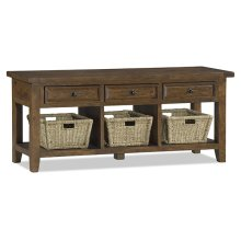Tuscan Retreat® TV Console With Baskets - Antique Pine