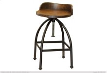"""24-30"""" Adjustable Height Swivel barstool with wooden seat,Iron base"""