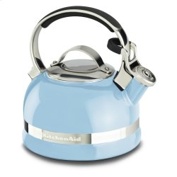 2.0-Quart Kettle with Full Stainless Steel Handle and Trim Band - Cameo Blue