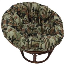 Bali 42-inch Indoor Fabric Rattan Papasan Chair - Walnut/Picasso
