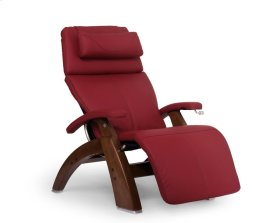 Perfect Chair PC-420 Classic Manual Plus - Red Top-Grain Leather - Walnut
