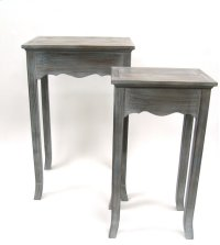 Wooden Side Tables-Grey-Set of 2-29 Product Image