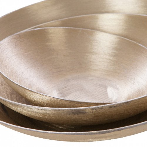 Slanted Trays in Brushed Gold