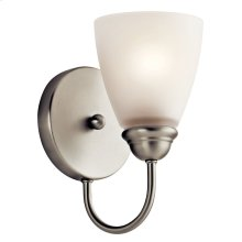 Jolie 1 Light LED Wall Sconce with LED Bulb Brushed Nickel