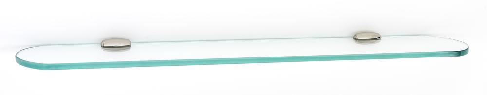 Royale Glass Shelf A6650-24 - Polished Nickel