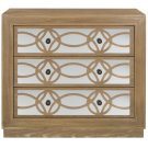 Catalina 3 Drawer Chest - Rustic Oak / Dark Bronze / Mirror Product Image