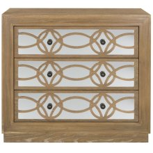 Catalina 3 Drawer Chest - Rustic Oak / Dark Bronze / Mirror