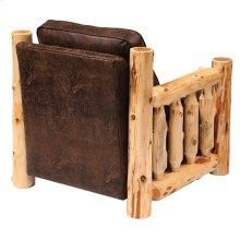 Upholstered Ottoman Cedar Log, Standard Leather