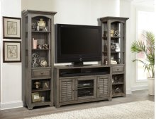 "55"" TV Console With Louvered Doors"