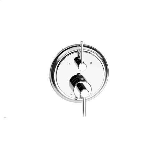 Dual Control Thermostatic With Diverter and Volume Control Valve Trim Darby Series 15 Polished Chrome