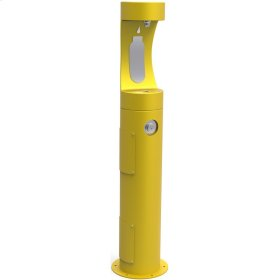 Elkay Outdoor EZH2O Bottle Filling Station Pedestal, Non-Filtered Non-Refrigerated Yellow