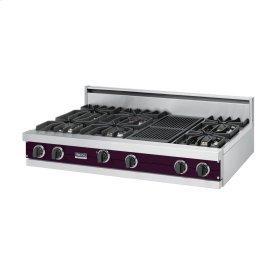 "Plum 48"" Sealed Burner Rangetop - VGRT (48"" wide, six burners 12"" wide char-grill)"